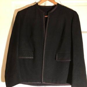 Vintage Chanel style black jacket.